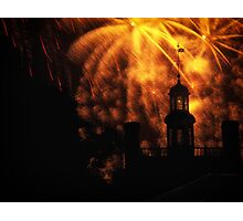 """""""COLONIAL GOVERNOR PALACE FIREWORKS"""" Photographic Print"""