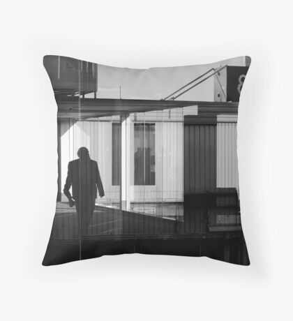 Inside/outside-airport Throw Pillow