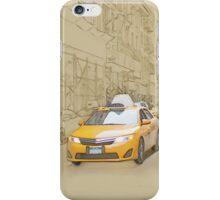 Yellow cab iPhone Case/Skin