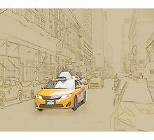 Yellow cab Photographic Print