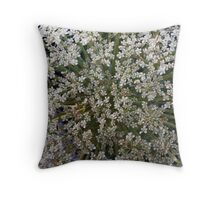 Wildfower Macro series: Queen Anne's Lace , Part Two Throw Pillow