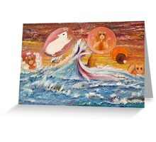 The Flight of the Hamsters - Escape from Planet Earth Greeting Card