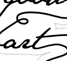 """Make Good Art"" - Neil Gaiman. Light tshirts Sticker"