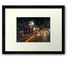 The Dark Streets of Gotham City Framed Print