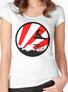 snowboard red rays Women's Fitted Scoop T-Shirt