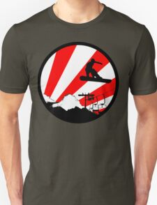 snowboard red rays T-Shirt