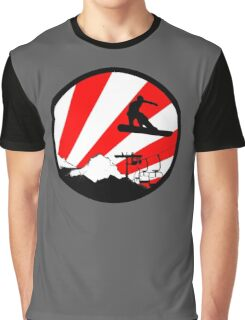 snowboard red rays Graphic T-Shirt