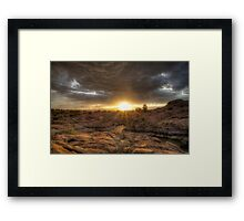 Remains At Sunset Framed Print