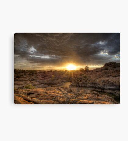 Remains At Sunset Canvas Print