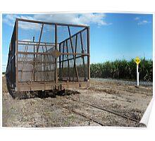Cane Train & Crop, Burdekin Shire, Queensland Poster
