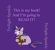 Twilight just wants to read her book by Rhiaxxify