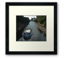 Overlooking the Ottawa Canal in Summer Framed Print