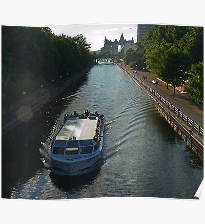 Overlooking the Ottawa Canal in Summer Poster