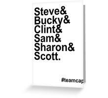 Team Captain Greeting Card