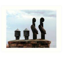 Chimneys Art Print