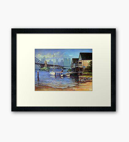 Lavender Bay Boathouse, Sydney Harbour Framed Print