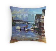 Lavender Bay Boathouse, Sydney Harbour Throw Pillow