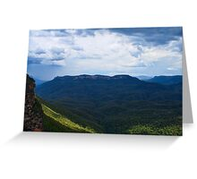 Stormy Mount Solitary Greeting Card