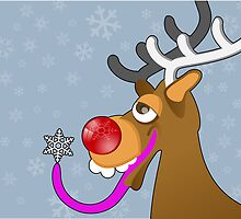 Rudolf the red nosed reindeer by Shane  Luskie