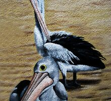 Pelicans Mural by Marilyn Harris