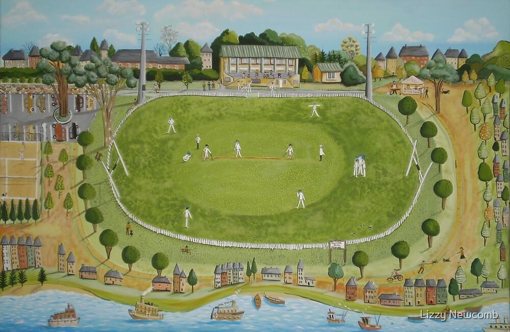Saturday cricket at Rawson park ,Mosman. by Lizzy Newcomb