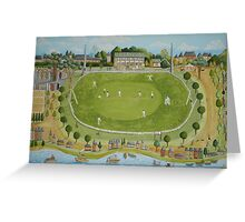 Saturday cricket at Rawson park ,Mosman. Greeting Card