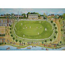 Saturday cricket at Rawson park ,Mosman. Photographic Print