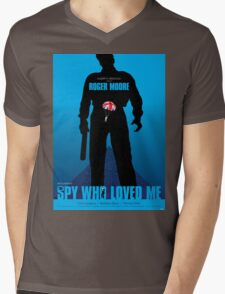 The Spy Who Loved Me - Movie Poster Mens V-Neck T-Shirt