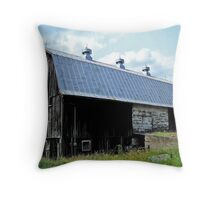 Barn In The Country Throw Pillow