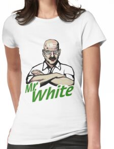 Mr. White Womens Fitted T-Shirt