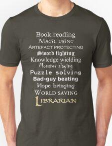 Librarian white text T-Shirt