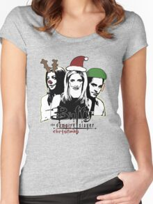 Buffy the Christmas Slayer! Women's Fitted Scoop T-Shirt