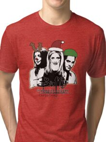 Buffy the Christmas Slayer! Tri-blend T-Shirt