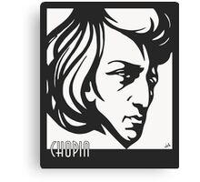 Chopin modern art deco style Canvas Print