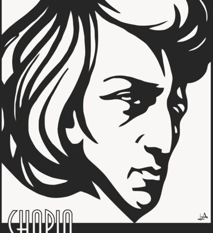 Chopin modern art deco style Sticker
