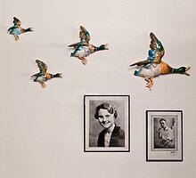 Flying Ducks on Granddad's Wall by Heather Buckley