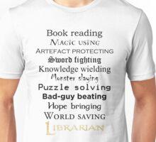 Librarian black text Unisex T-Shirt