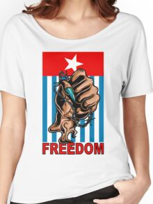 Freedom West Papua Morning Star Flag Women's Relaxed Fit T-Shirt