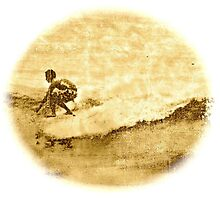 Sepia Surfer by Vikki-Rae Burns