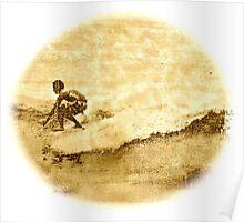 Sepia Surfer Poster