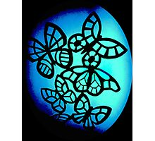 Blue Fantasy Butterfly Photographic Print