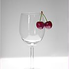 Cherries and Wine Glass 1 by J-images