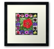Essex Flowers Collage featuring Dreamy Wild Roses Framed Print