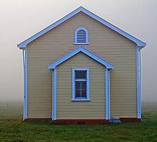 Rural Church in Fog by Robyn Carter
