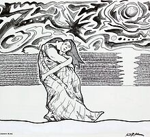'LOVERS BENEATH A TURBULENT SKY'  by Jerry Kirk