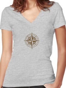 Going East Women's Fitted V-Neck T-Shirt