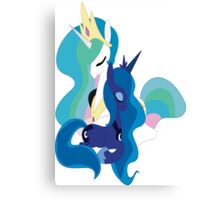 My Little Pony Friendship Is Magic Luna and celestia poster Canvas Print