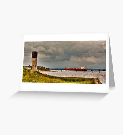 Leaving the Humber Estuary Greeting Card