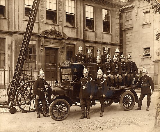 Ushers Fire Brigade by Trowbridge  Museum