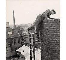 Steeplejack, Trowbridge Factory Chimney Photographic Print